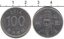 Изображение Дешевые монеты Южная Корея 100 вон 2014 Медно-никель XF+