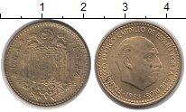 Изображение Дешевые монеты Испания 1 песета 1953 Латунь XF-