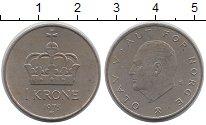 Изображение Дешевые монеты Европа Норвегия 1 крона 1975 Медно-никель XF-