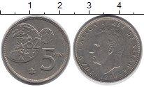 Изображение Дешевые монеты Испания 5 песет 1982 Медно-никель XF ЧМ по футболу 1982