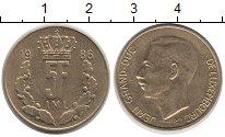 Изображение Дешевые монеты Люксембург 5 франков 1986 Медно-никель UNC-