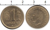 Изображение Дешевые монеты Европа Испания 1 песета 1980 Латунь-сталь XF