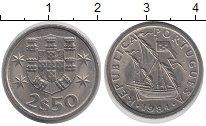Изображение Дешевые монеты Португалия 2 1/2 эскудо 1984 Медно-никель XF