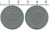 Изображение Дешевые монеты Норвегия 1 крона 1987 Медно-никель VF+