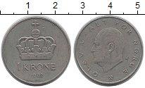 Изображение Дешевые монеты Норвегия 1 крона 1982 Медно-никель VF+