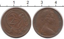 Изображение Дешевые монеты Австралия и Океания Австралия 2 цента 1966 Латунь VF