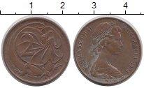 Изображение Дешевые монеты Австралия 2 цента 1974 Латунь VF