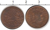 Изображение Дешевые монеты Мексика 5 сентаво 1974 Медь XF
