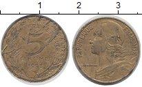 Изображение Дешевые монеты Франция 5 сантим 1993 Латунь XF
