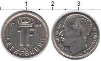 Изображение Дешевые монеты Люксембург 1 франк 1988 нержавеющая сталь XF