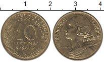 Изображение Мелочь Франция 10 сантим 0 Латунь XF Года разные