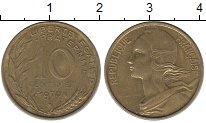 Изображение Дешевые монеты Франция 10 сентим 1970 Бронза VF