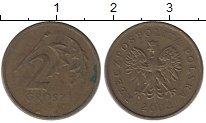Изображение Дешевые монеты Польша 2 гроша 2002 Латунь VF