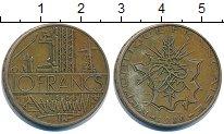 Изображение Дешевые монеты Франция 10 франков 1980 Латунь VF+