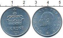 Изображение Дешевые монеты Европа Норвегия 1 крона 1976 Медно-никель XF