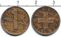 Изображение Дешевые монеты Швейцария 1 рапп 1951 Медь XF
