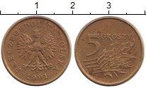 Изображение Дешевые монеты Польша 5 грош 1991 Латунь VF