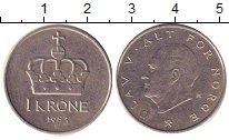 Изображение Дешевые монеты Норвегия 1 крона 1983 Медно-никель XF