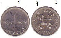 Изображение Дешевые монеты Финляндия 1 марка 1955 Медно-никель VF