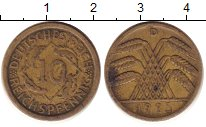 Изображение Дешевые монеты Европа Германия 10 пфеннигов 1925 Латунь VF+