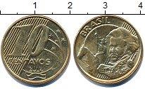 Изображение Дешевые монеты Южная Америка Бразилия 10 сентаво 2014 Латунь-сталь XF