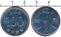 Изображение Дешевые монеты Южная Корея 100 вон 2016 Медно-никель VF