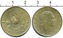 Изображение Дешевые монеты Италия 200 лир 1994 Латунь XF