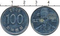 Изображение Дешевые монеты Южная Корея 100 вон 2005 нержавеющая сталь XF