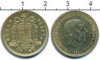 Изображение Дешевые монеты Европа Испания 1 песета 1966 Латунь-сталь XF-