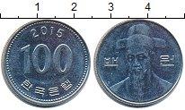 Изображение Дешевые монеты Южная Корея 100 вон 2015 Медно-никель XF