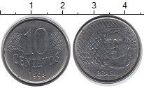 Изображение Дешевые монеты Бразилия 10 сентаво 1994 Сталь XF
