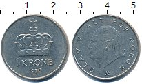 Изображение Дешевые монеты Европа Норвегия 1 крона 1978 Медно-никель XF