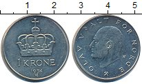 Изображение Дешевые монеты Норвегия 1 крона 1974 Медно-никель XF