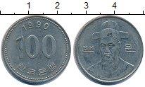 Изображение Дешевые монеты Азия Южная Корея 100 вон 1990 Медно-никель XF-