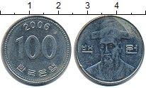 Изображение Дешевые монеты Азия Южная Корея 100 вон 2006 нержавеющая сталь XF