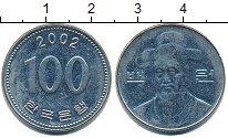 Изображение Дешевые монеты Южная Корея 100 вон 2002 Медно-никель XF