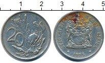 Изображение Дешевые монеты ЮАР 20 центов 1975 Медно-никель VF