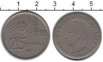 Изображение Дешевые монеты Европа Испания 25 песет 1980 Медно-никель XF-