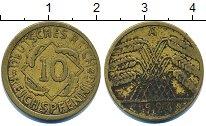 Изображение Дешевые монеты Европа Германия 10 пфеннигов 1924 Латунь VF-