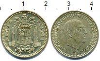 Изображение Дешевые монеты Европа Испания 1 песета 1966 Латунь UNC-