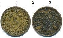 Изображение Дешевые монеты Европа Германия 5 пфеннигов 1935 Латунь VF