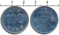 Изображение Дешевые монеты Южная Корея 100 вон 2014 Медно-никель XF