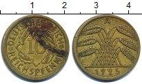 Изображение Дешевые монеты Германия 10 пфеннигов 1925 Латунь VF