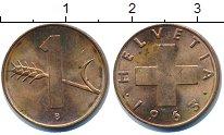 Изображение Дешевые монеты Швейцария 1 рапп 1963 Медь VF