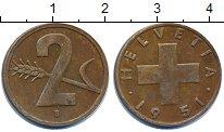 Изображение Дешевые монеты Европа Швейцария 2 раппа 1951 Бронза VF