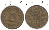 Изображение Дешевые монеты Африка Тунис 20 миллим 1983 Латунь VF