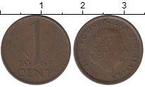 Изображение Дешевые монеты Нидерланды 1 цент 1967 Бронза VF-
