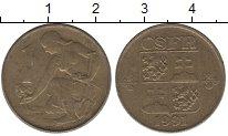 Изображение Дешевые монеты Чехия 1 крона 1991 Латунь-сталь XF