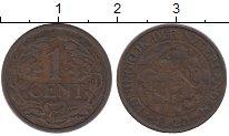 Изображение Дешевые монеты Нидерланды 1 цент 1922 Медь VF