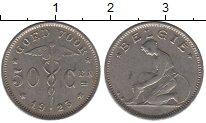 Изображение Дешевые монеты Бельгия 50 сантим 1925 Медно-никель XF-